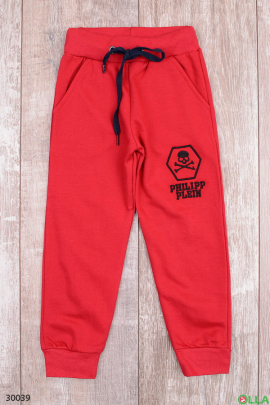Бордовые спортивные штаны для мальчика
