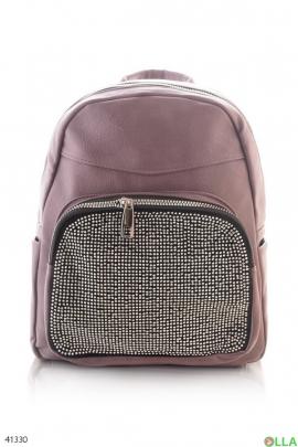 Фиолетовый рюкзак со стразами