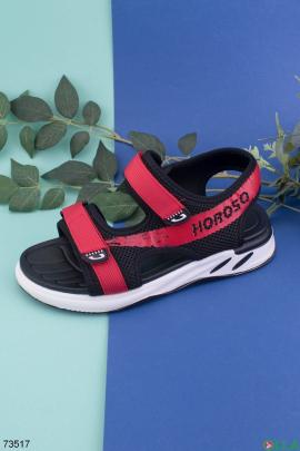 Мужские черно-красные сандалии