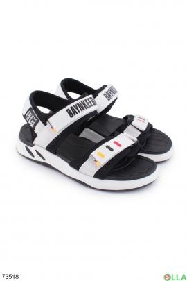 Мужские черно-белые сандалии