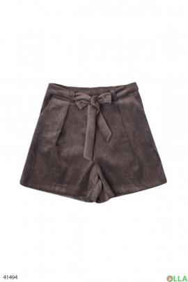 Женские вельветовые шорты