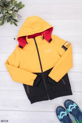 Мужская двухцветная куртка с капюшоном