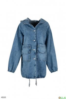 Джинсовая куртка.свободного кроя