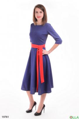Платье-миди с поясом
