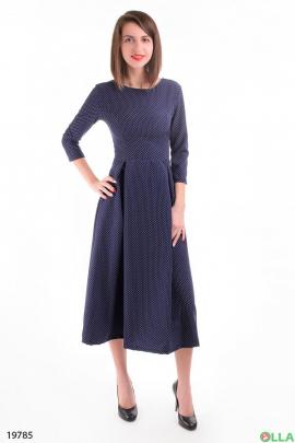 Платье-миди со складками