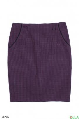 Классическая юбка фиолетового цвета