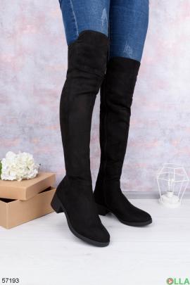 Женские ботфорты на каблуке