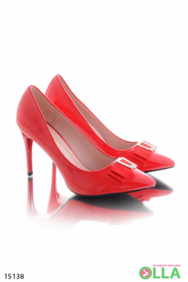 Туфли на шпильке,с бантиком