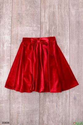 Красная юбка для девочки