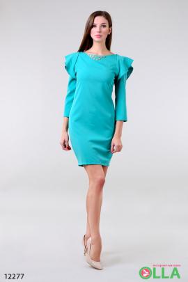 Платье с рукавами- воланом