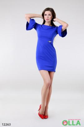 Платье с рукавами - воланами