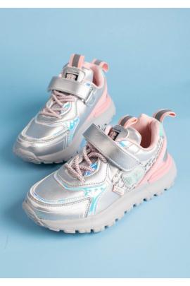 Сероебристые кроссовки для девочек