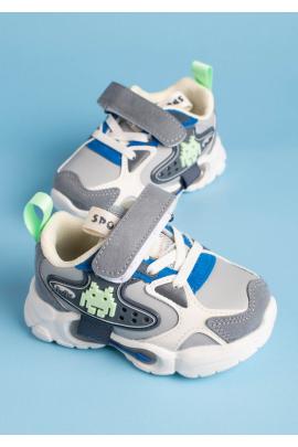 Серо-белые кроссовки для мальчика