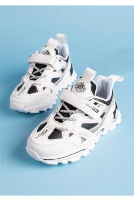 Черно-белые кроссовки для мальчика