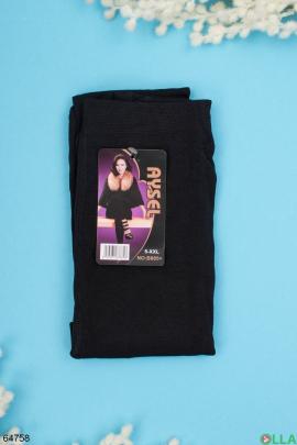 Женские черные колготы с начесом