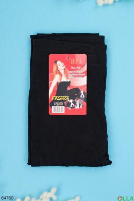 Женские черные колготы с начесом 1800 Den
