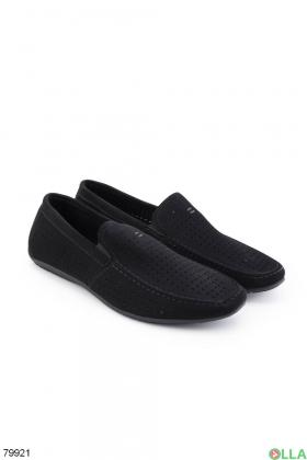 Мужские черные туфли из эко-кожи