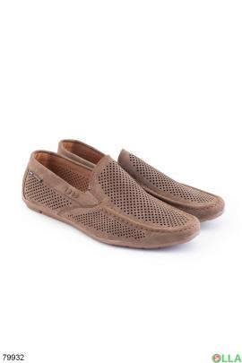 Мужские коричневые туфли из эко-кожи