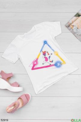 Женская  футболка с принтом