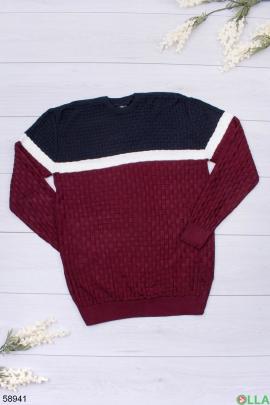 Мужской сине-красный свитер