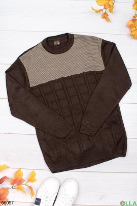 Мужской коричневый свитер