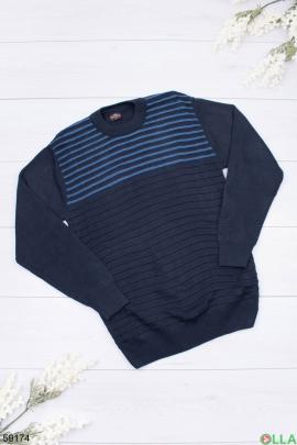 Мужской сине-голубой свитер