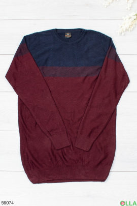 Мужской бордовый свитер
