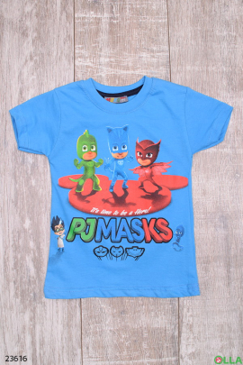 Голубая футболка с рисунком