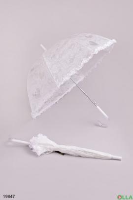 Детский зонт белого цвета
