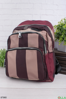 Женский рюкзак в полоску