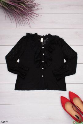 Женская черная блузка