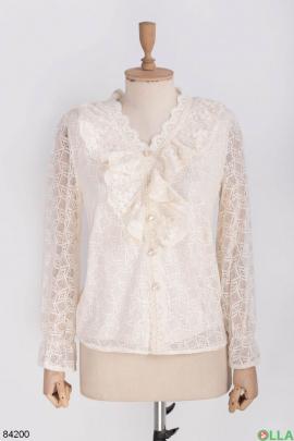 Женская бежевая блузка