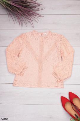 Женская розовая блузка