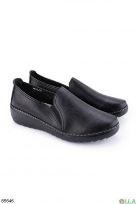 Женские черные туфли из эко-кожи