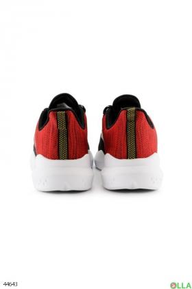 Черно-красные кроссовки из текстиля