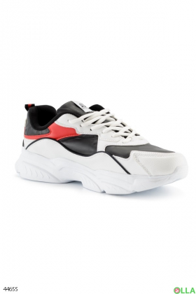 Мужские черно-белые кроссовки