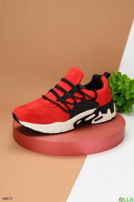 Мужские кроссовки с верхом из текстиля