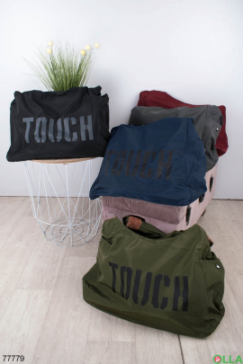 Женская черная спортивная сумка