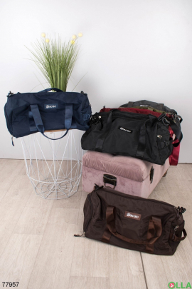 Мужская темно-синяя спортивная сумка