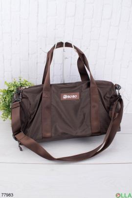Мужская коричневая спортивная сумка