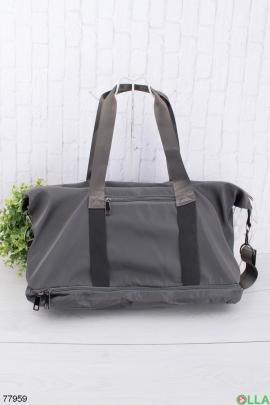 Мужская темно-серая спортивная сумка