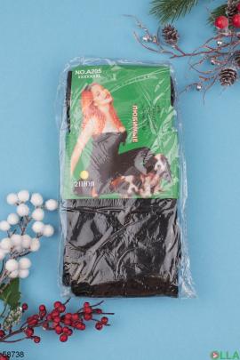 Женские черные колготы  из кашемира