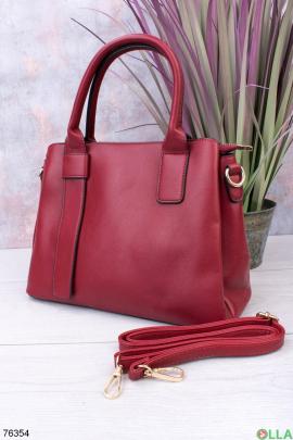 Женская красная сумка из эко-кожи