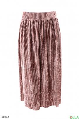 Женская велюровая юбка