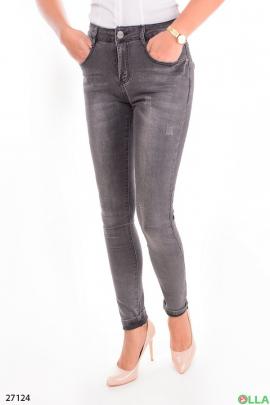 Женские джинсы серого цвета