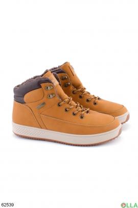 Мужские зимние коричневые ботинки