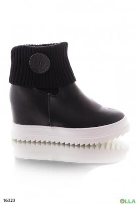 Ботинки с трикотажным верхом