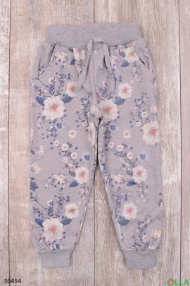 Спортивные штаны с цветочным принтом