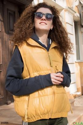 Женский желтый жилет