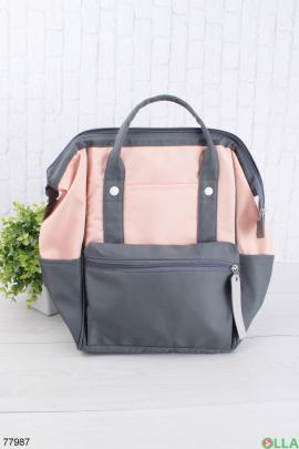 Женский черно-розовый рюкзак